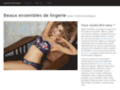Détails : Lingerie sous-vêtements dessous sexy lingerie de jour