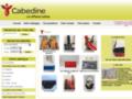 Capture du site http://www.cabedine.fr