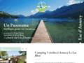 Détails : Un camping familial au bord du lac d'Annecy