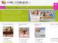 Site #4530 : Carte et faire-part personnalisés avec vos photos