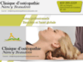 Clinique d'ostéopathie Nancy Beaudoin - membre ostéopathe