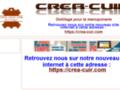 Capture du site http://crea-cuir.wifeo.com