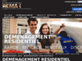 Capture du site http://www.demenagement-remax.com