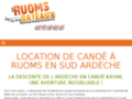 Canoë sur l'Ardèche, location à Ruoms