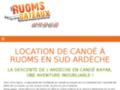 Capture du site http://www.descente-canoe-ardeche.fr