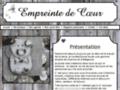 Capture du site http://www.empreintedecoeur.com/