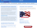 Détails : Services d'enregistrement pour ESTA