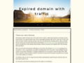 expired domain with traffic