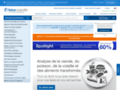 Capture du site http://www.fr.fishersci.com/home/index.php?action=home_analytics&id_site=FFR&langue=FR