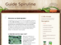 Capture du site http://guidespiruline.fr/