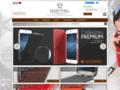 Etui en cuir de luxe pour smartphones et appareils mobiles