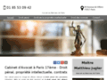 Détails : Avocat droit de la propriété intellectuelle à Paris 17