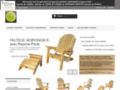 KEBEK - kebek specialiste fauteuil adirondack cedre blanc