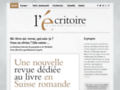 Détails : L'Ecritoire, presse culturelle en Suisse