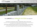 Détails : Gabion et mur de soutènement