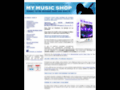 My Music Shop, boutique E-commerce de musique en PHP