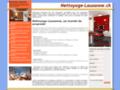 Détails : Nettoyage, entretien et propreté dans la région de Lausanne
