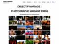 Capture du site http://www.objectif-mariage.fr