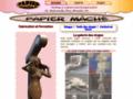 Papier mâché sculpture