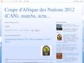 Coupe d'Afrique des nations 2012, matchs, actualit�s