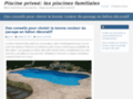Piscines privées : la piscine familiale