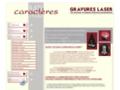 Plaques fun�raires : gravure laser