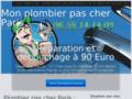 Détails : Plombier pas cher Paris  réparation et débouchage à 90 euro