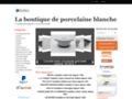Détails : La boutique en ligne de porcelaine blanche