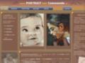 Portrait et dessin d'enfant, bébé, famille et peinture à l'huile. Paris Versailles.