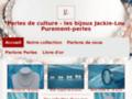 Détails : Boucle d'oreille perle chez Jackie Lou