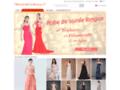 Longue robe de cérémonie chic pas cher en ligne