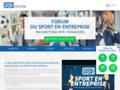 Site spécialisé sur le sport en entreprise