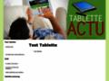 Capture du site http://www.tablette-actu.fr/