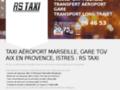 Capture du site http://www.taxiistres.fr