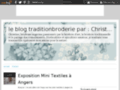 Le blog tradition broderie par Christine
