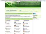 Annuaire des thérapeutes