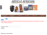 Boutique africaine