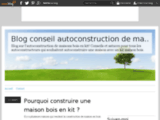 Autoconstruction maison bois en kit