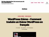 Site Web et Blog WordPress Aide Ressources