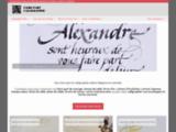 Calligraphie latine et faire-part