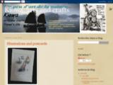 Art, artisanat, illustrations, voyage, carnets, croquis, écrits, cartes postales