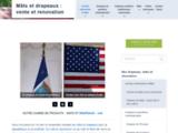 Mât et drapeau pour PLV et signaletique