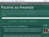 Pauline au Rwanda