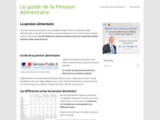 Pension alimentaire info