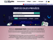 screenshot http://www.1001ecolesprivees.fr 1001 Écoles Privées