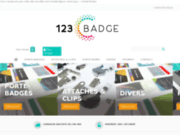 screenshot http://www.123badge.fr/ porte-badge