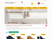 screenshot http://www.1kmapieds.com la boutique de déstockage de chaussures enfant