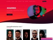 screenshot http://www.404works.com/ freelance web : annonces gratuites de projets