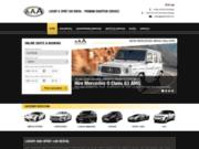 screenshot http://www.aaarentcars.com professionnels de la location de voitures sportive