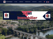 screenshot http://www.aami-immobilier.com agence immobiliere pezenas